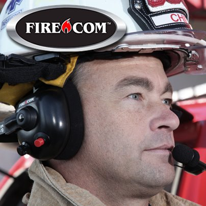 fire chief wearing firecom brand headset