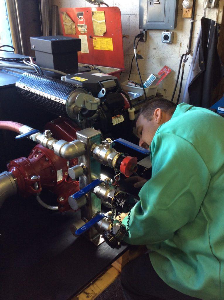 repairing skid unit