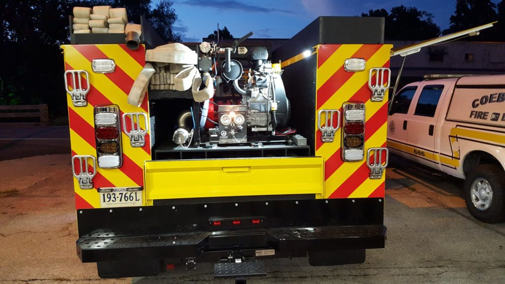 skid unit installed on rescue truck